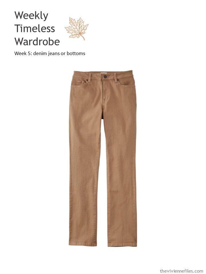 1. chestnut brown jeans