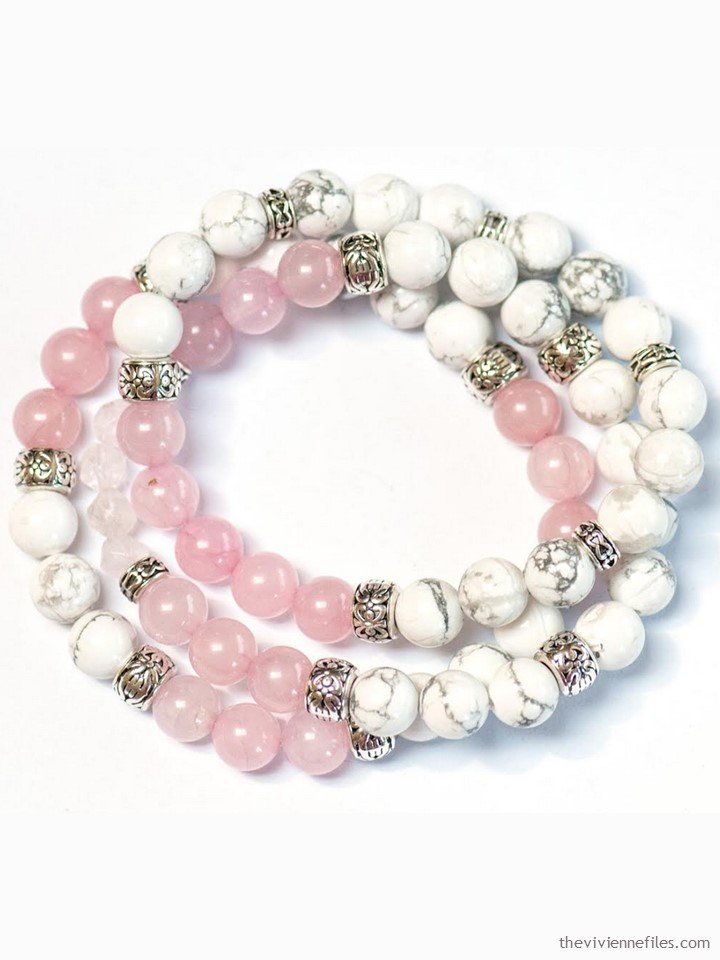 1. rose quartz and howlite bracelet from Fierce Lynx Designs
