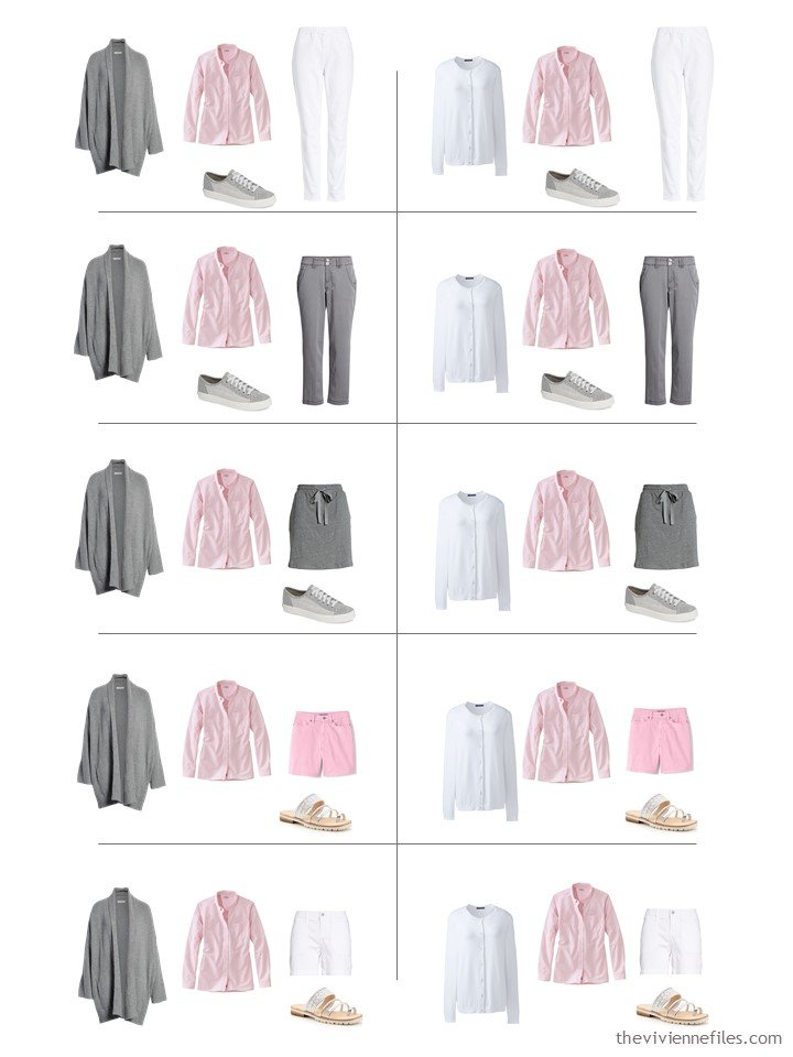 10. 10 ways to wear a pink oxford shirt from a travel capsule wardrobe
