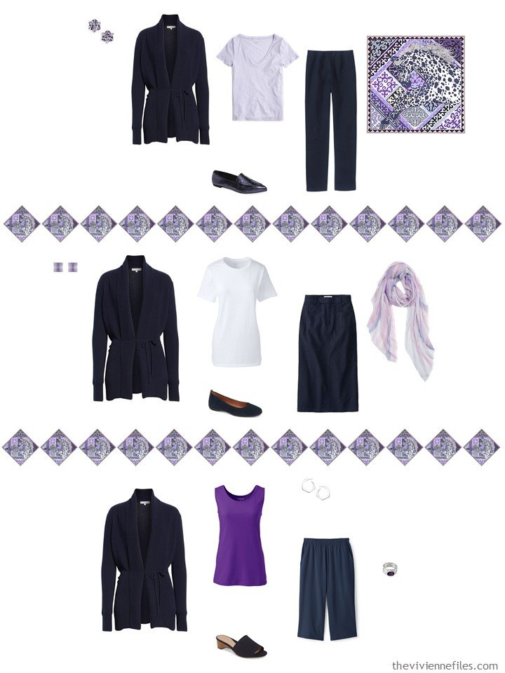 10. adding a navy cardigan to a capsule wardrobe