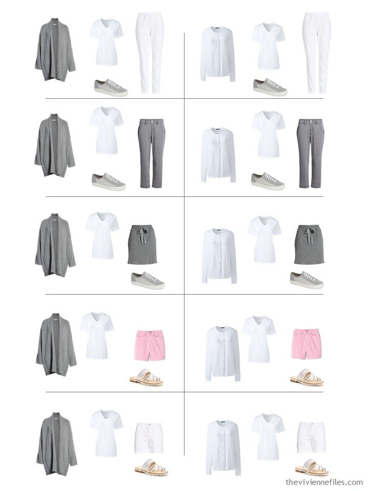 11. 10 ways to wear a white tee shirt from a travel capsule wardrobe