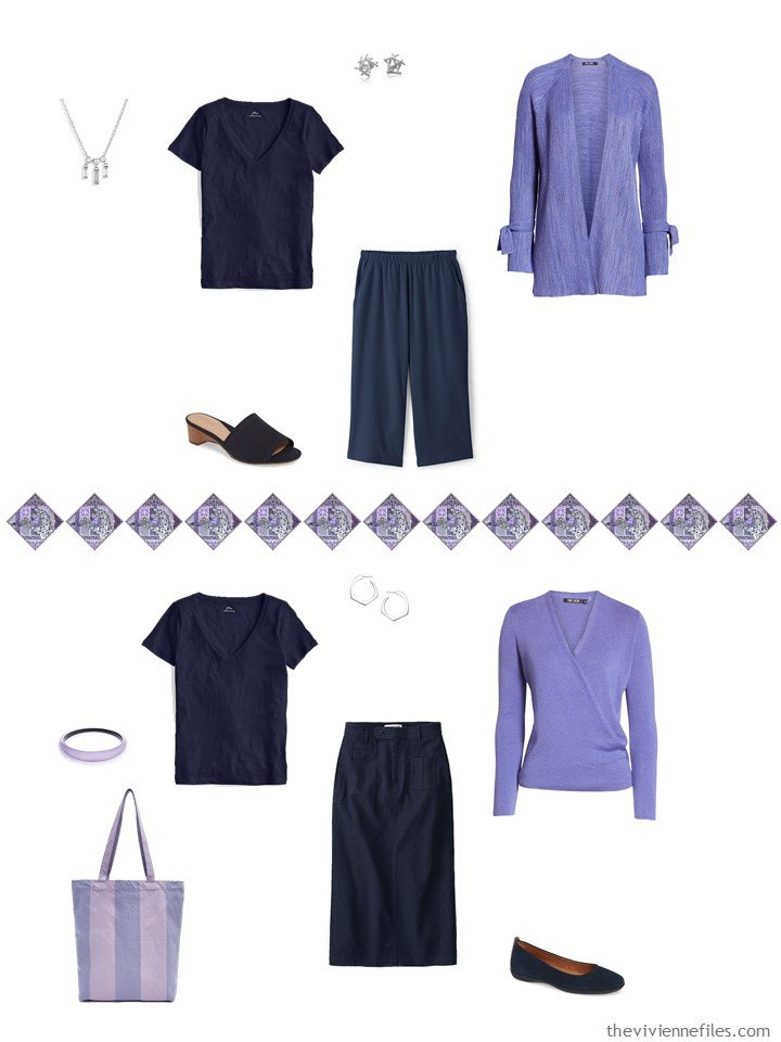 11. 2 ways to wear a navy tee in a capsule wardrobe