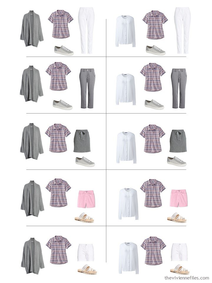 12. 10 ways to wear a plaid top from a travel capsule wardrobe