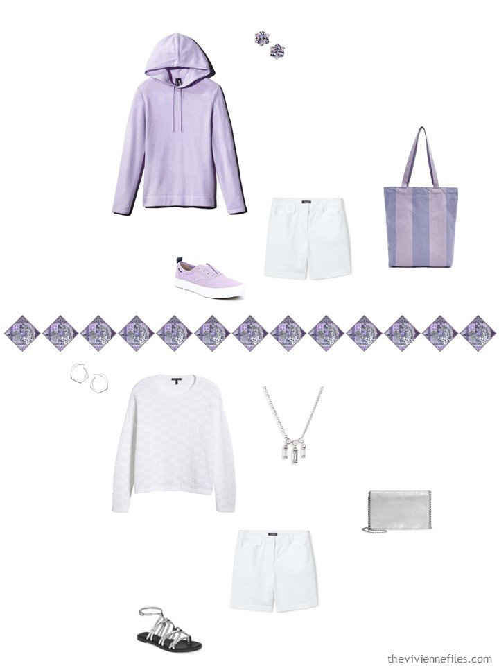 12. 2 ways to wear white shorts in a capsule wardrobe