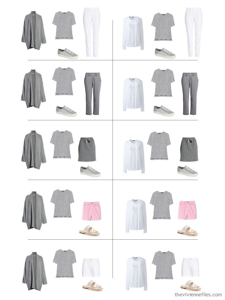 14. 10 ways to wear a grey tee shirt from a travel capsule wardrobe
