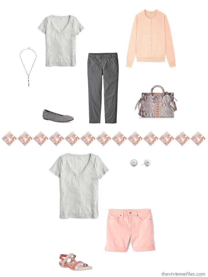 17. 2 ways to wear a grey tee in a capsule wardrob