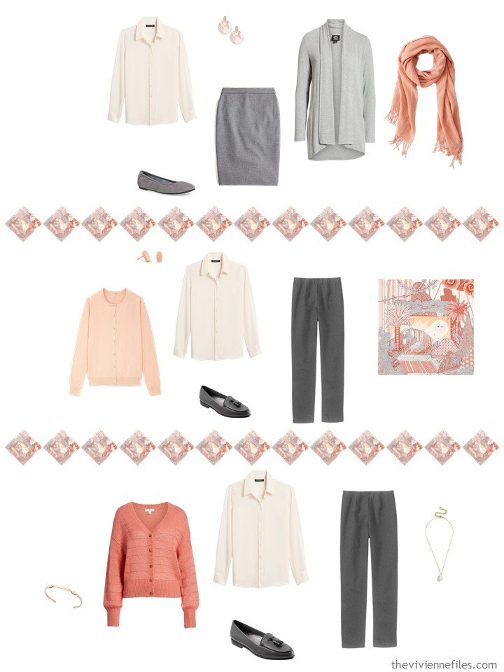 17. adding a blush blouse to a capsule wardrobe