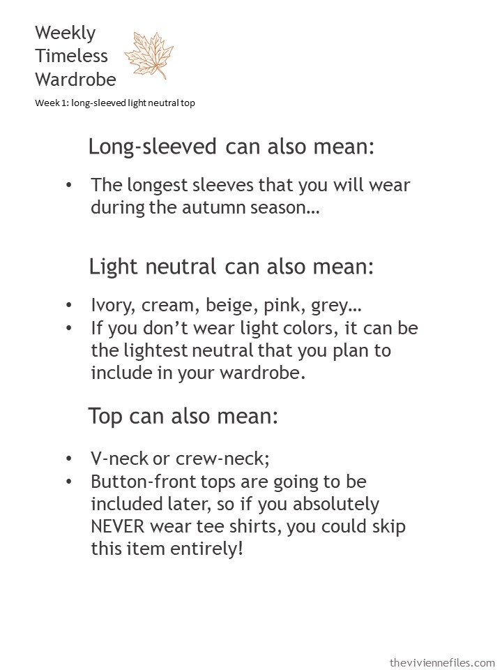 2. expanding the definition of a long-sleeved light neutral top