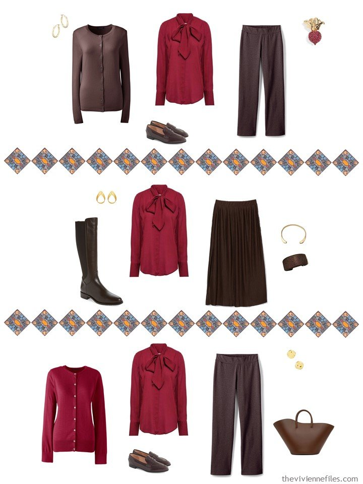 29. adding a red blouse to a capsule wardrobe