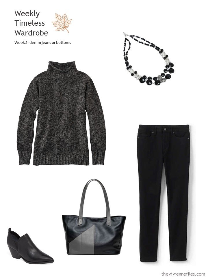 3. outfit based on black jeans