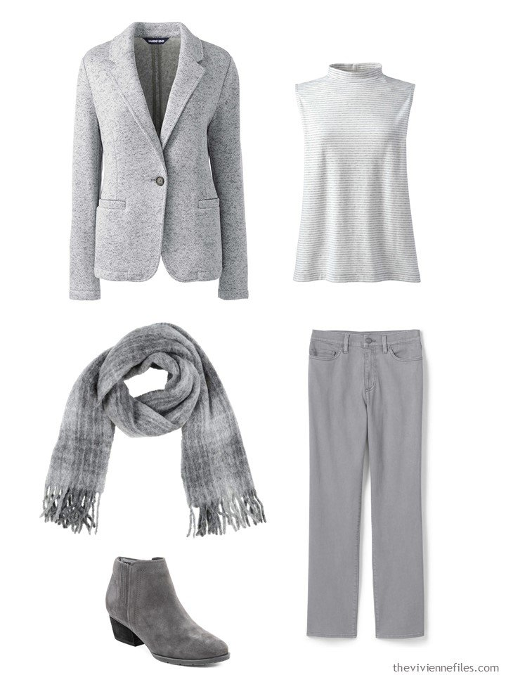 3. outfit in shades of grey