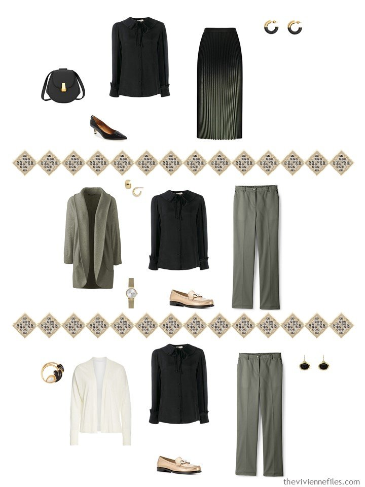 35. adding a black blouse to a capsule wardrobe
