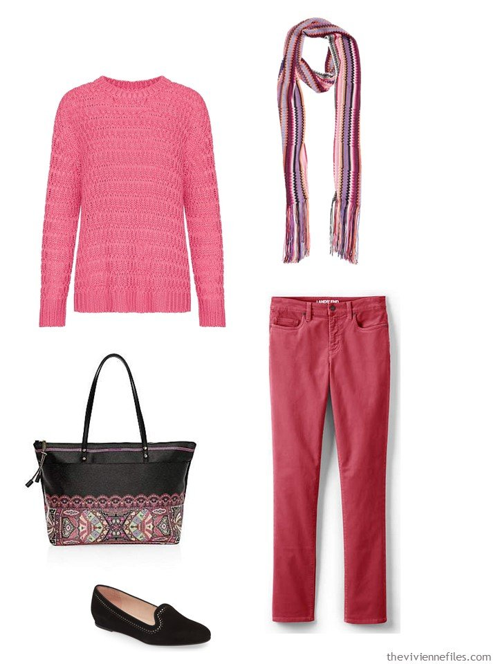 4. outfit in 2 shades of pink