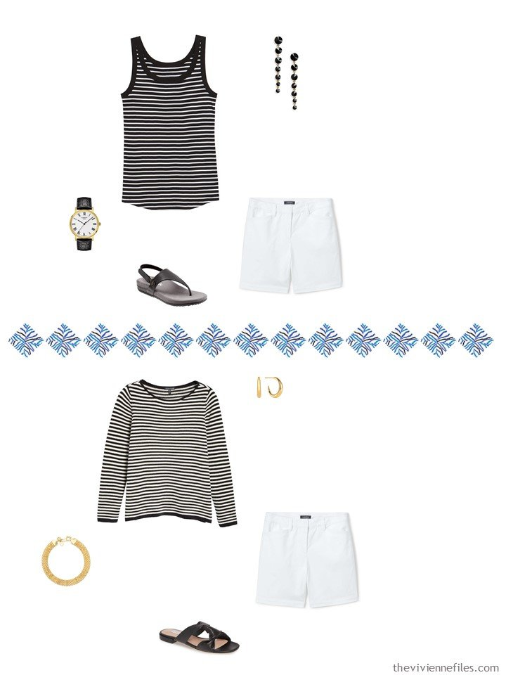 5. 2 ways to wear white shorts from a capsule wardrobe