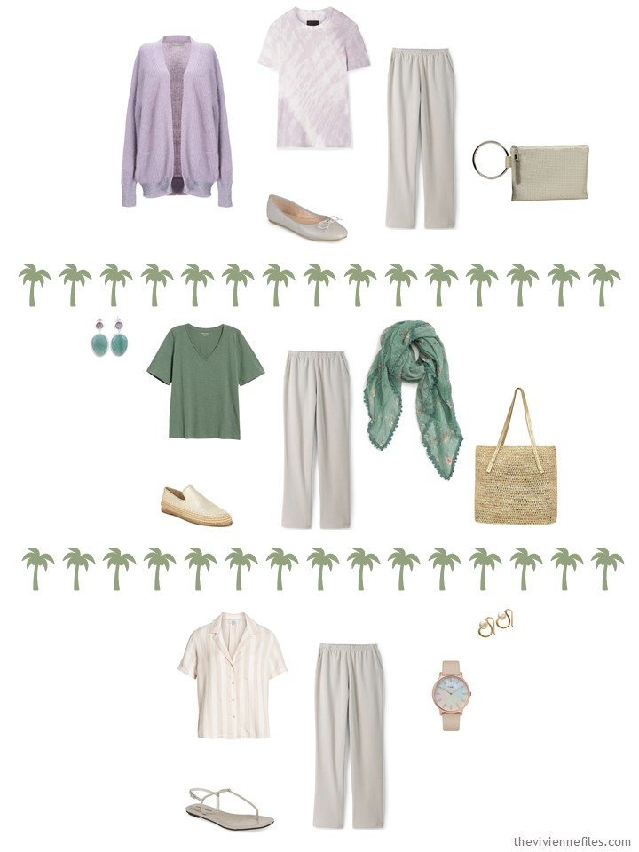 5. 3 ways to wear taupe pants from a travel capsule wardrobe