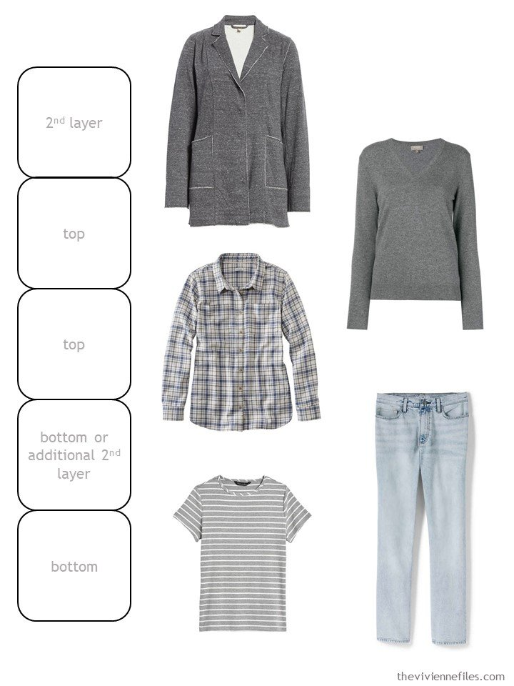 5. grey and denim wardrobe cluster