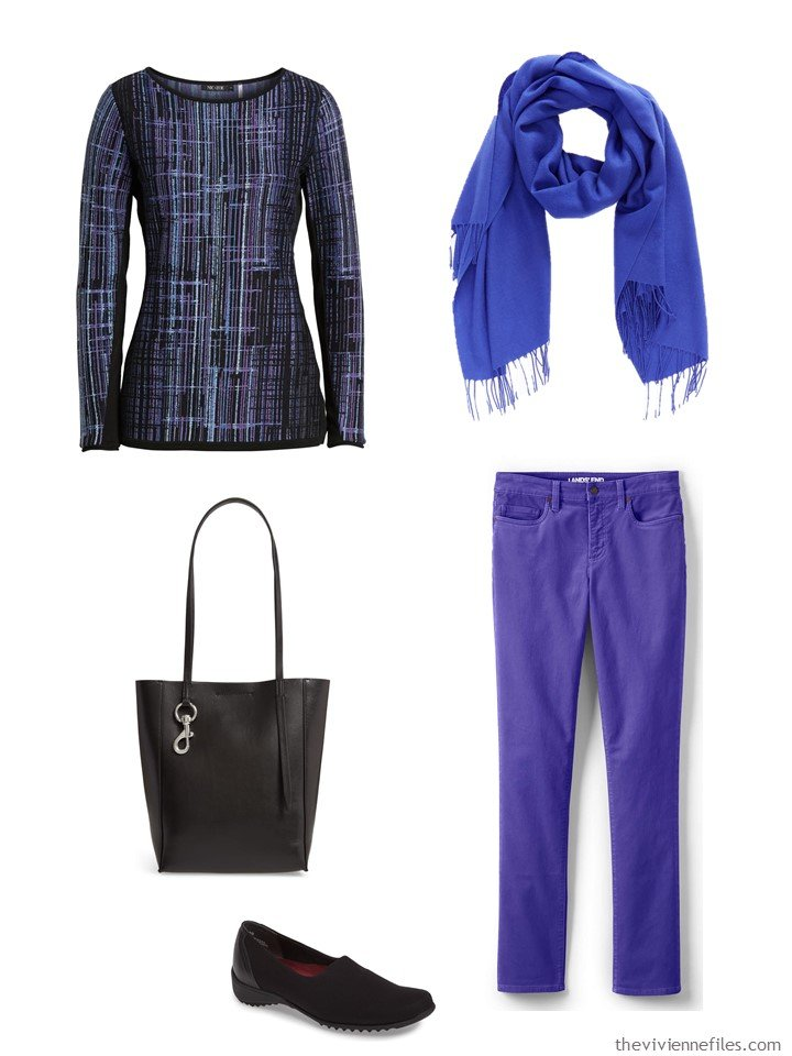5. outfit mixing blue and purple