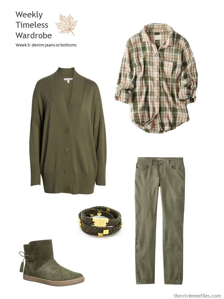 6. outfit based on olive jeans