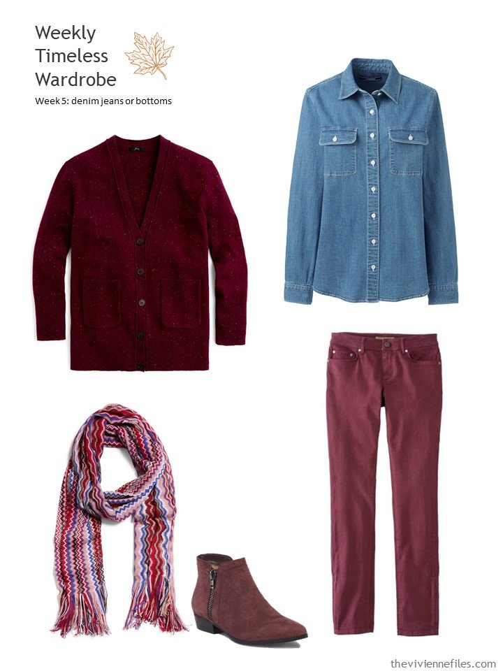 7. outfit based on berry jeans