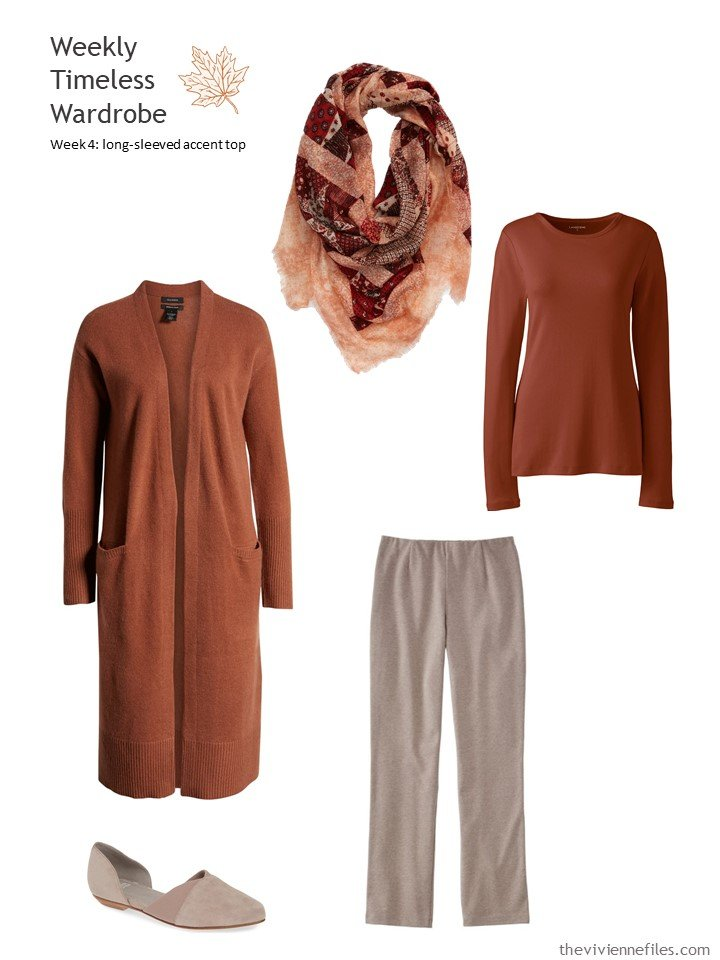 8. wearing cinnamon with taupe