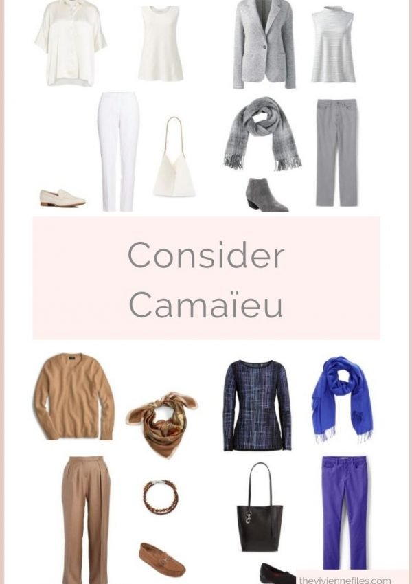 DO THE COLORS IN YOUR OUTFIT HAVE TO MATCH EXACTLY? CONSIDER CAMAÏEU…