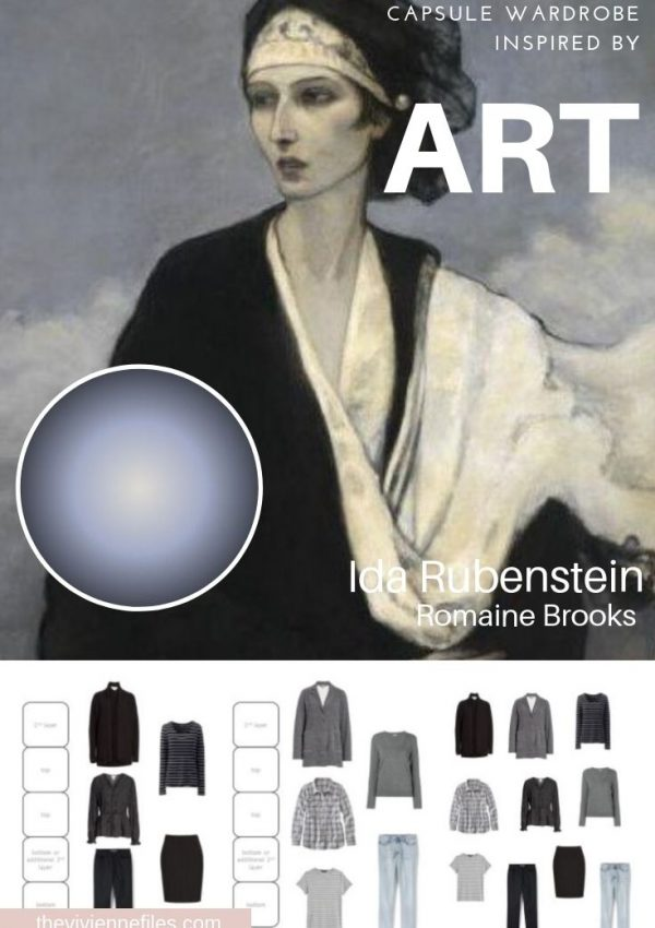 CREATE A TRAVEL CAPSULE WARDROBE INSPIRED BY ART: IDA RUBENSTEIN BY ROMAINE BROOKS, OR THE POWER OF 5-GARMENT CLUSTERS