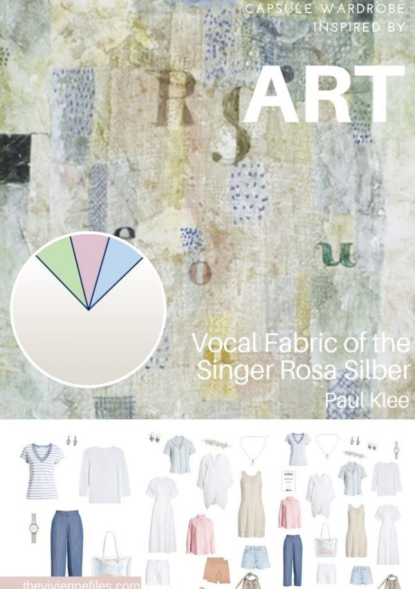CREATE A TRAVEL CAPSULE WARDROBE INSPIRED BY ART: VOCAL FABRIC OF THE SINGER ROSA SILBER BY PAUL KLEE