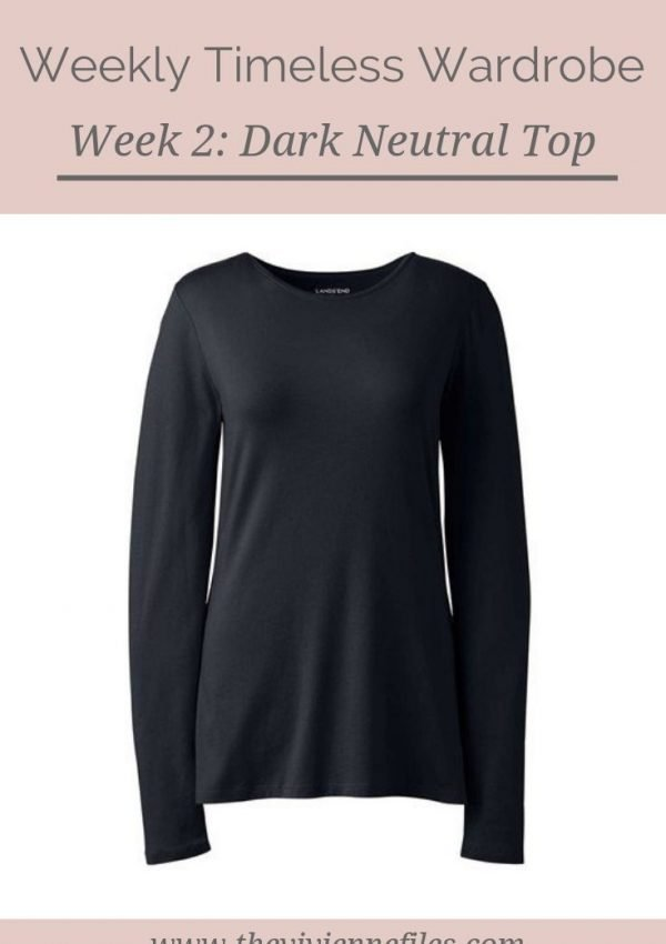 THE WEEKLY TIMELESS WARDROBE, WEEK 2: A DARK NEUTRAL TOP