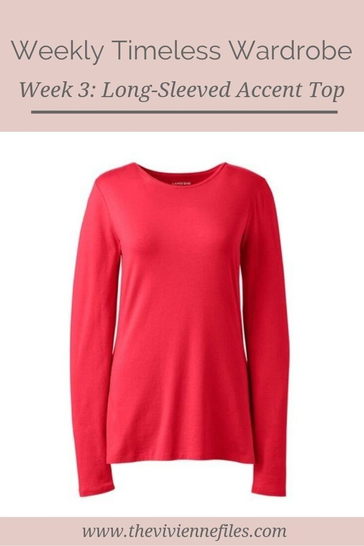 THE WEEKLY TIMELESS WARDROBE, WEEK 3: A LONG-SLEEVED ACCENT TOP