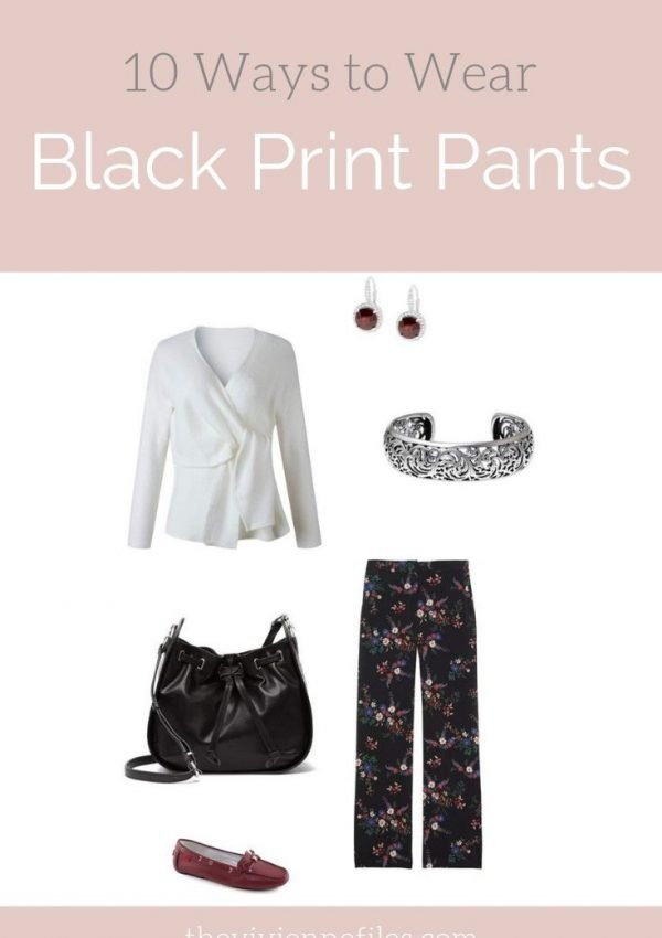 10 WAYS TO WEAR BLACK PRINT PANTS