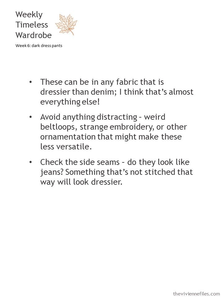 2. guidelines for choosing dress pants