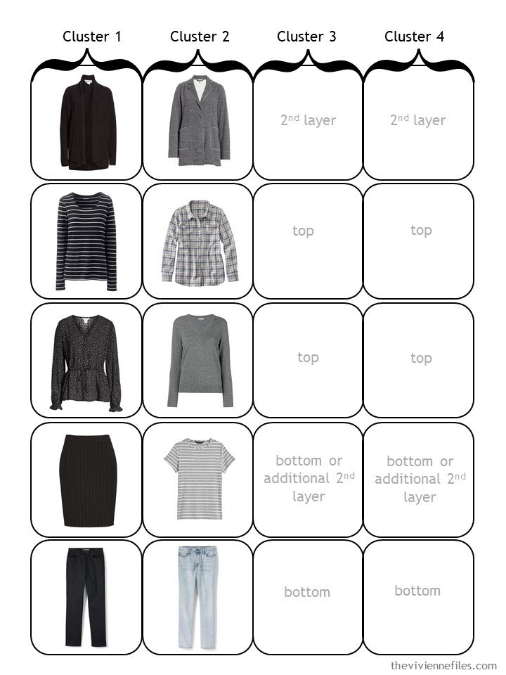 3. half full 4-cluster wardrobe template