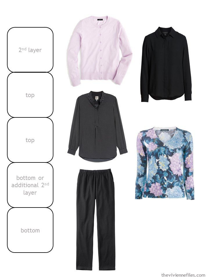 6. wardrobe cluster in black with pink and florals
