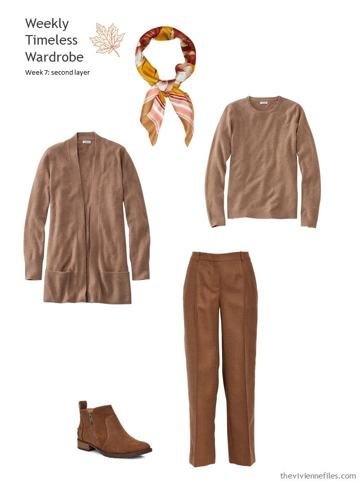 8. saddle brown twinset and pants