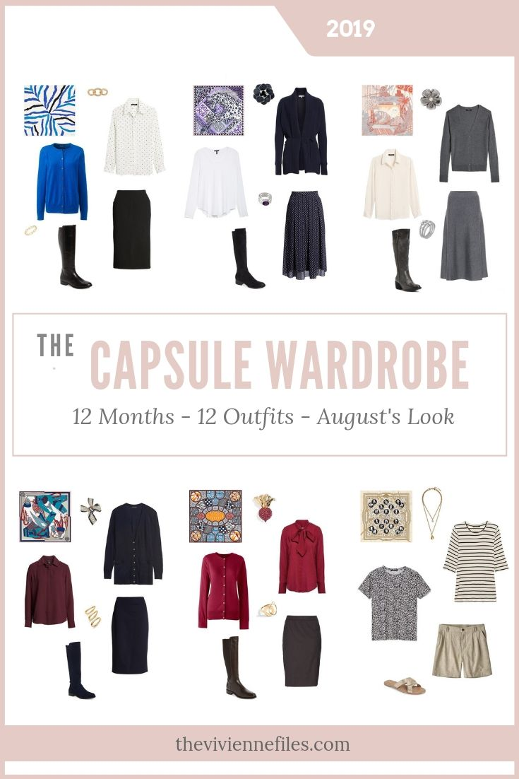12 Months, 12 Outfits – create a travel capsule wardrobe based on 6 Hermes Scarves