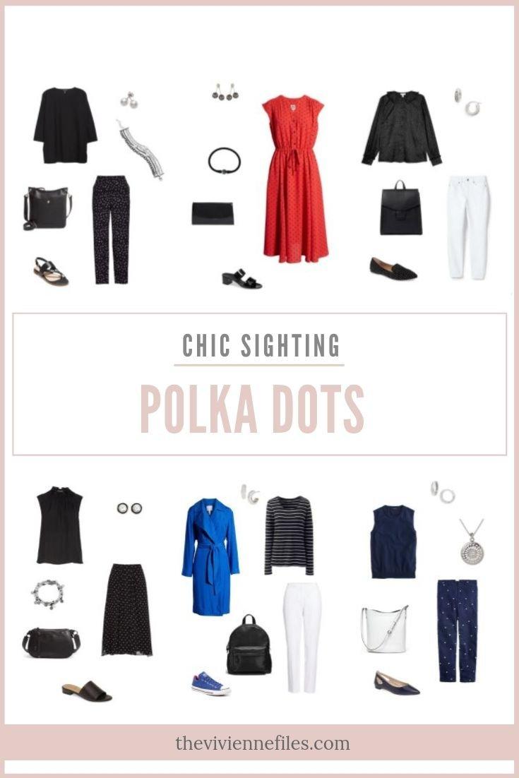 CHIC SIGHTINGS: POLKA DOTS!