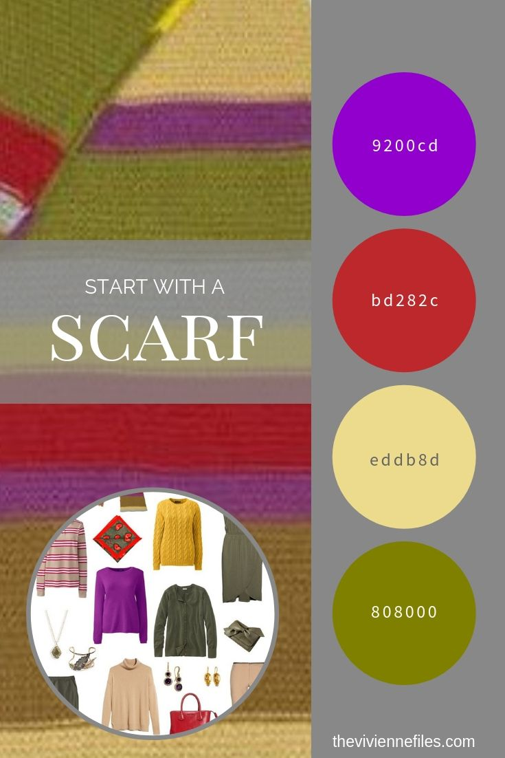 CREATE A TRAVEL CAPSULE WARDROBE INSPIRED BY A SCARF - TOM BAKER'S DOCTOR WHO SCARF!