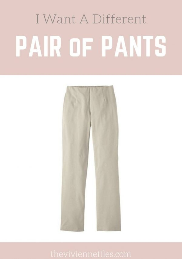 Create a Capsule Wardrobe Based on Neutral Stone Colored Pants