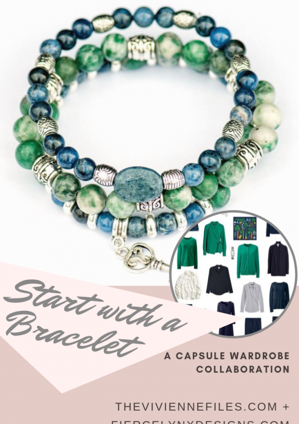 how to build a capsule wardrobe starting with a gemstone bracelet