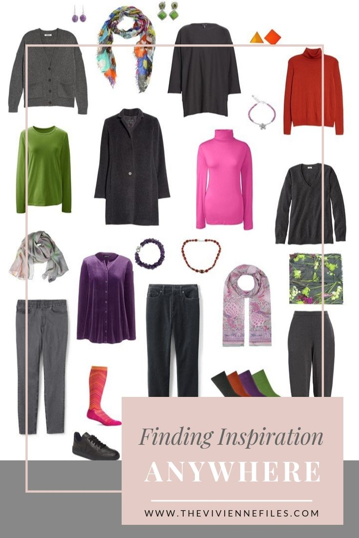 FIND INSPIRATION ANYWHERE! A TRAVEL CAPSULE WARDROBE IN GREY WITH BRIGHT ACCENTS