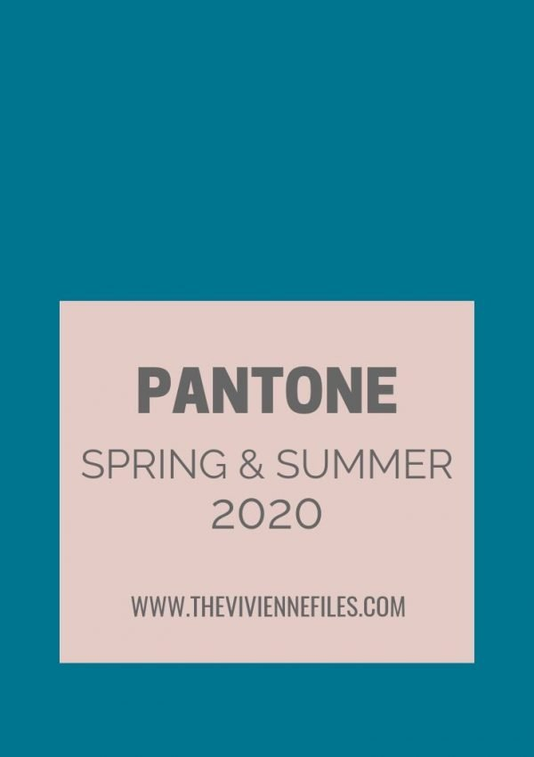 FRENCH 5-PIECE WARDROBES - PANTONE COLORS FOR SPRING/SUMMER 2020