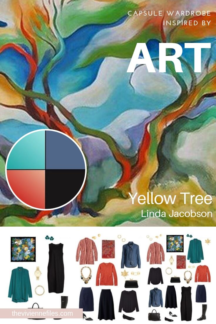 CREATE A TRAVEL CAPSULE WARDROBE - START WITH ART: REVISITING YELLOW TREE BY LINDA JACOBSON
