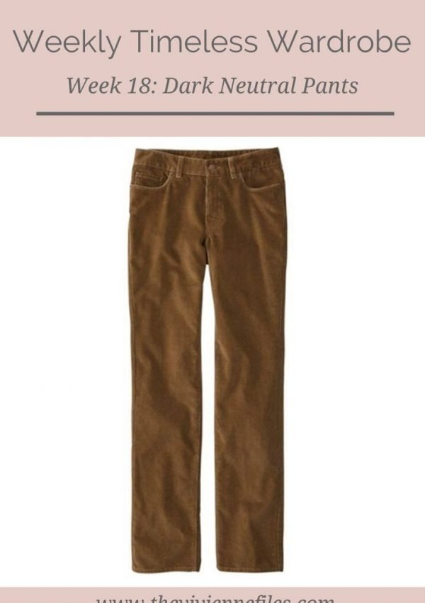 THE WEEKLY TIMELESS WARDROBE, WEEK 18: DARK NEUTRAL CORDUROY PANTS