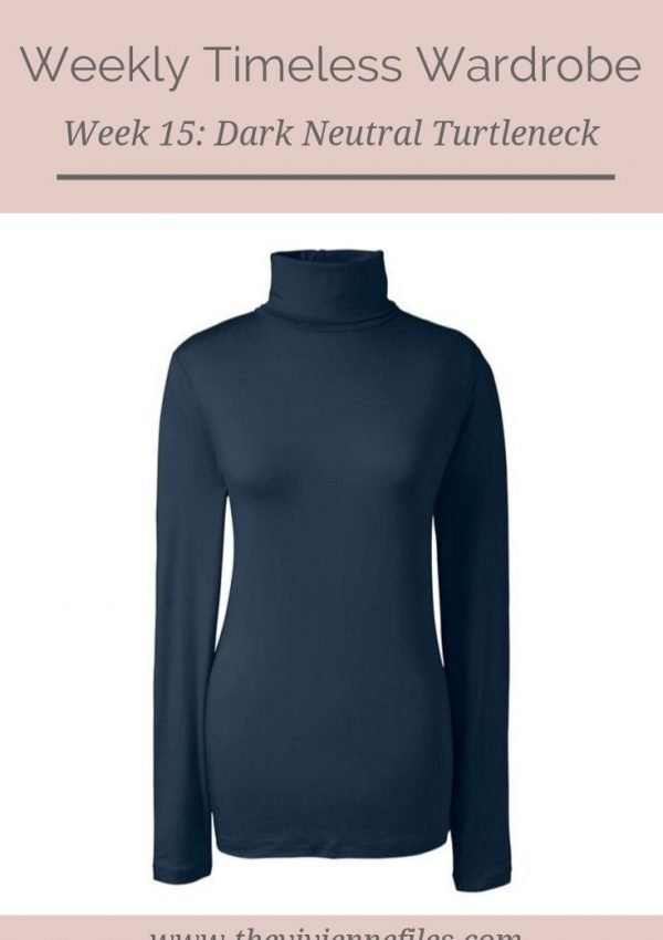 The Weekly Timeless Wardrobe, Week 15: A Dark Neutral Cotton Turtleneck