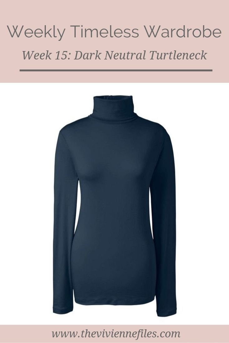 The Weekly Timeless Wardrobe, Week 15: A Dark Neutral Cotton Turtleneck