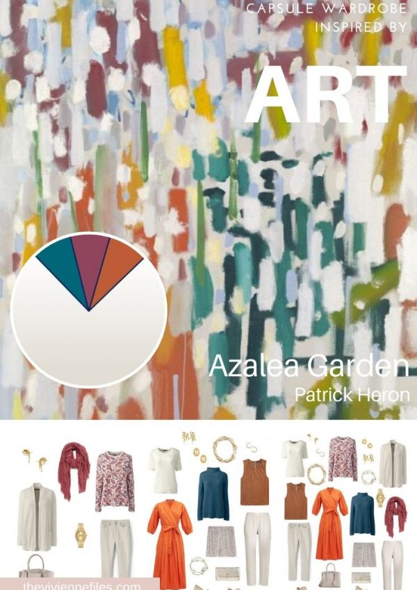 CREATE A TRAVEL CAPSULE WARDROBE - START WITH ART: A HOLIDAY REBEL SIX-PACK WITH AZALEA GARDEN BY PATRICK HERON