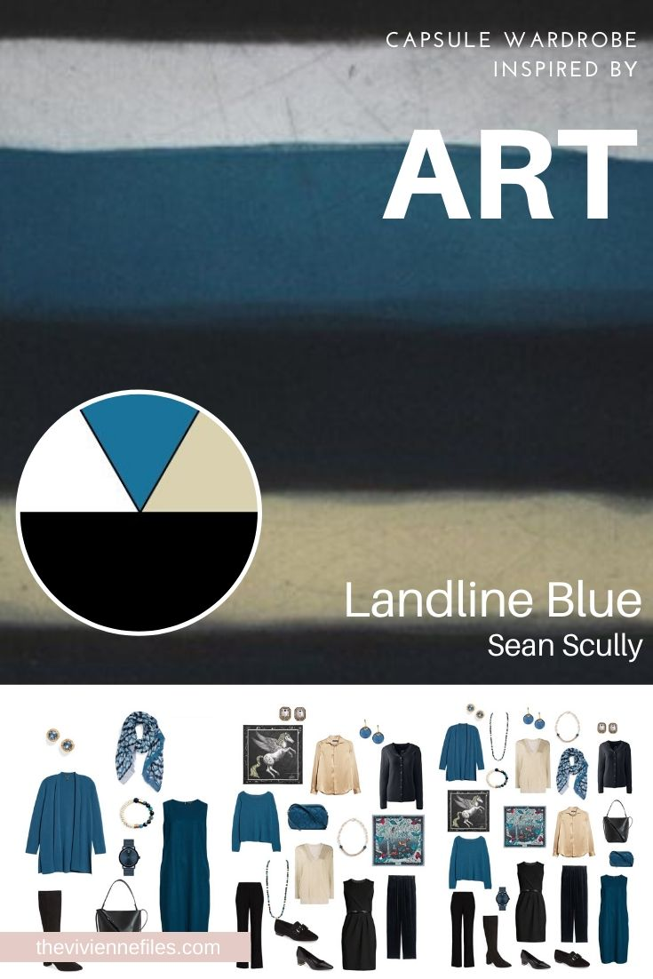 CREATE A TRAVEL CAPSULE WARDROBE - START WITH ART: LANDLINE BLUE BY SEAN SCULLY