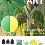 CREATE A TRAVEL CAPSULE WARDROBE - START WITH ART: THE SUNSHADE BY WILLIAM JOHN LEECH, AND WORKING WITH ACCENT COLORS