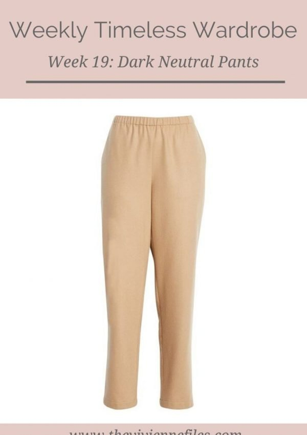 THE WEEKLY TIMELESS WARDROBE, WEEK 19: DARK NEUTRAL PANTS