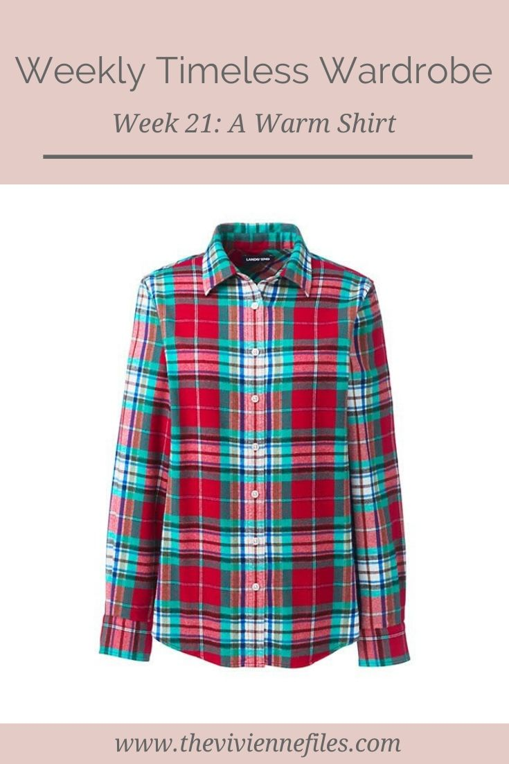 THE WEEKLY TIMELESS WARDROBE, WEEK 21: A WARM SHIRT